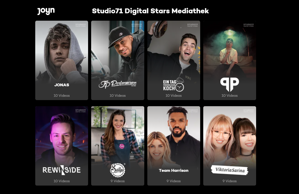 """Die neue """"Studio71 Digital Stars""""-Mediathek erblickt bei Joyn das Licht der Streaming-Welt"""