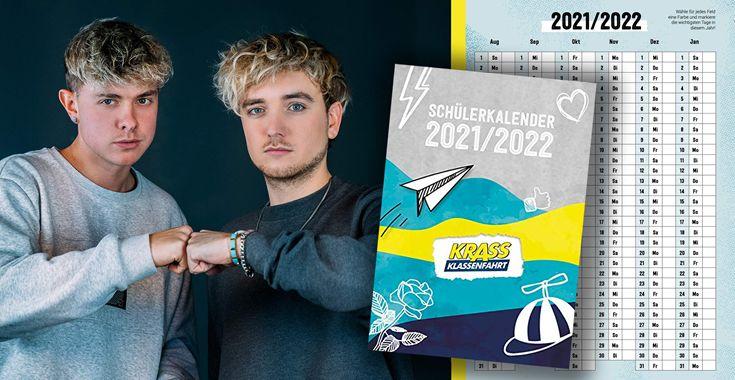 """Der neue """"Krass Klassenfahrt""""-Schülerkalender 2021/2022 ist da"""